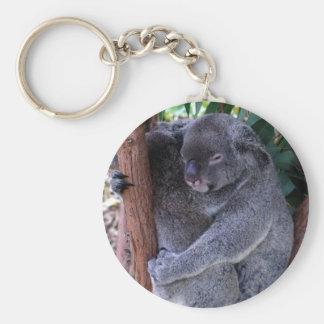 Porte - clé de famille de koala porte-clé rond