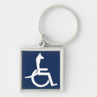 Porte - clé de fauteuil roulant de Rex Porte-clé Carré Argenté