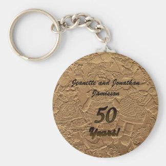 Porte - clé de faveur de fête d'anniversaire de porte-clé rond