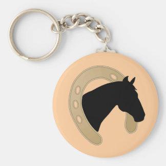 PORTE - CLÉ de fer à cheval d'or Porte-clé Rond