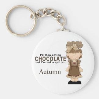 Porte - clé de fille de chocolat porte-clé rond