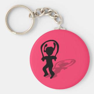 Porte - clé de fille de corde à sauter porte-clé rond