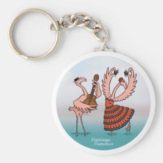 Porte - clé de flamenco de flamant porte-clé rond