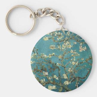 Porte - clé de fleur d'amande porte-clé rond