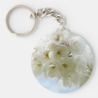 Porte - clé de fleurs de cerisier de ressort porte-clés