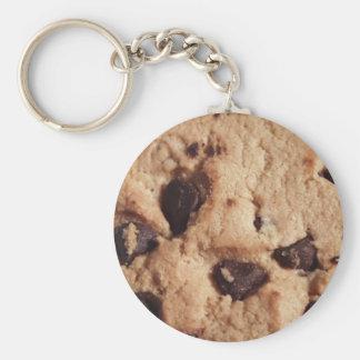 Porte - clé de gâteau aux pépites de chocolat porte-clé rond