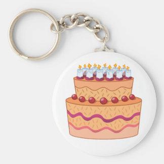 Porte - clé de gâteau porte-clé rond