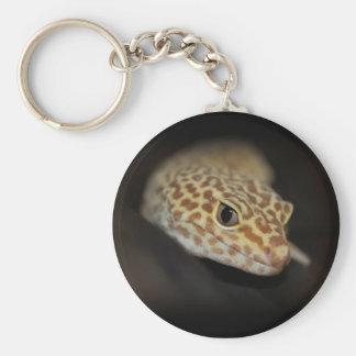 Porte - clé de Gecko de léopard Porte-clé Rond