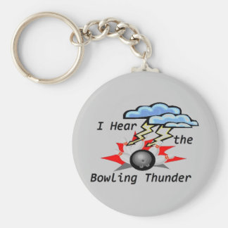 Porte - clé de gris de tonnerre de bowling porte-clé rond
