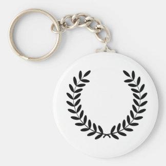 Porte - clé de guirlande de laurier porte-clé rond