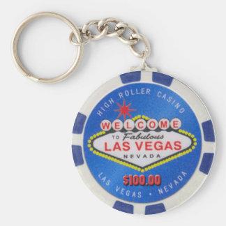 Porte - clé de jeton de poker du flambeur $100,00 porte-clé rond