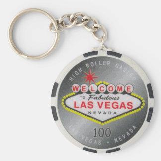 Porte - clé de jeton de poker du flambeur $100 de porte-clé rond
