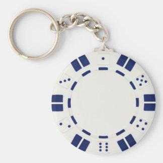 porte - clé de jeton de poker porte-clé rond