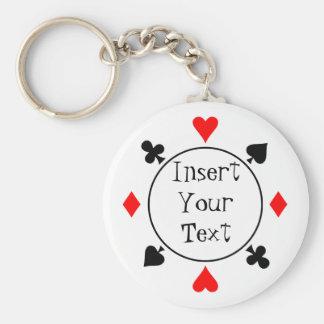 Porte - clé de jeton de poker porte-clés