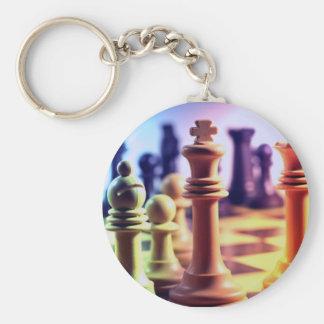 Porte - clé de jeu d'échecs porte-clé rond