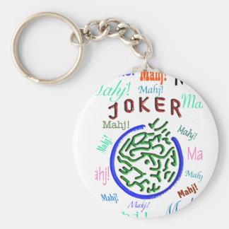 Porte - clé de joker d'heure-milliampère Jongg Porte-clé Rond