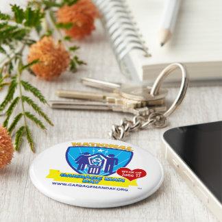 Porte - clé de jour d'homme de déchets porte-clé rond