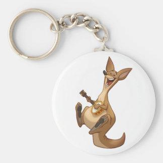Porte - clé de kangourou de Banjo-Strummin' Porte-clé Rond