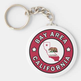 Porte - clé de la Californie de région de baie Porte-clé Rond