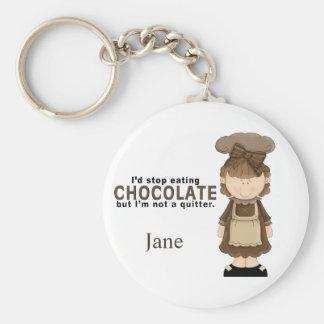 Porte - clé de la fille 3 de chocolat porte-clé rond