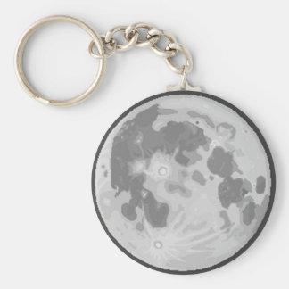 Porte - clé de la lune Pix-SOLÉNOÏDE Porte-clé Rond