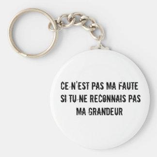 Porte - clé de la splendeur (grandeur en français) porte-clé rond