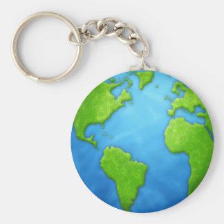 Porte - clé de la terre de planète porte-clés