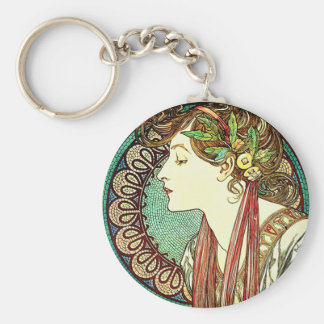 Porte - clé de laurier d'Alphonse Mucha Porte-clef