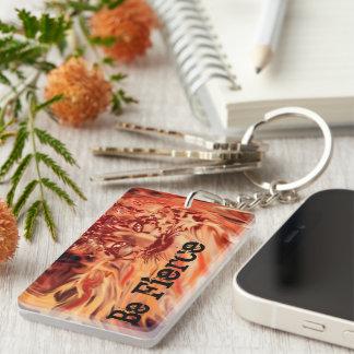 Porte - clé de léopard de neige du feu et de glace porte-clés
