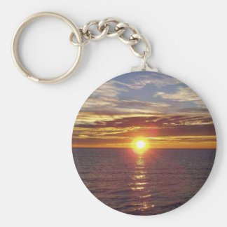 Porte - clé de lever de soleil porte-clé rond