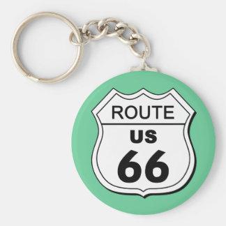 Porte - clé de l'itinéraire 66 porte-clé rond