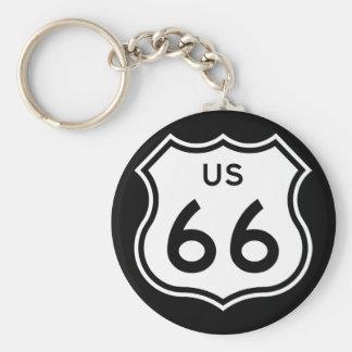 Porte - clé de l'itinéraire 66 porte-clés