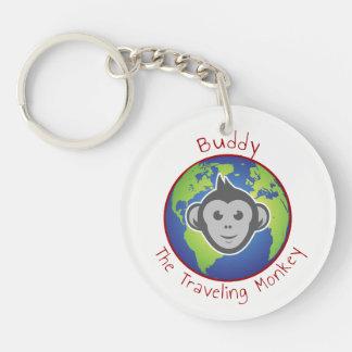 Porte - clé de logo d'ami porte-clé rond en acrylique double face