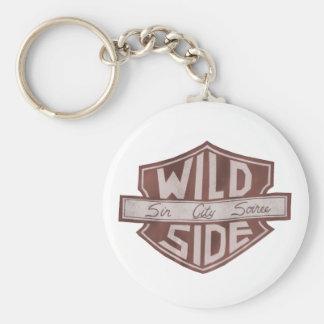 Porte - clé de logo de bouclier de VWS Porte-clé Rond