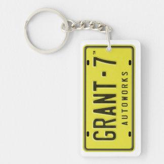 Porte - clé de logo de G7 Porte-clé Rectangulaire En Acrylique Double Face