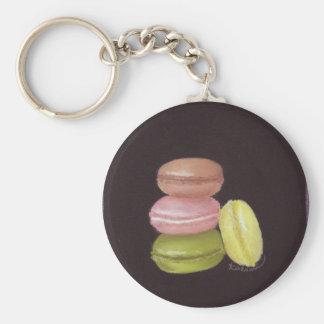Porte - clé de macarons porte-clé rond