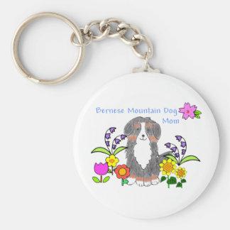 Porte - clé de maman de chien de Bernese Mtn Porte-clé Rond
