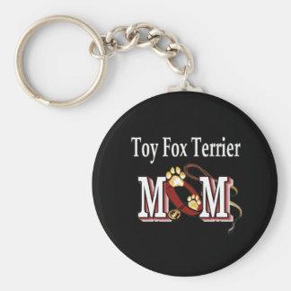 porte - clé de maman de terrier de renard de jouet porte-clé rond