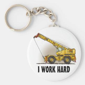 Porte - clé de matériel de construction de grue qu porte-clé rond