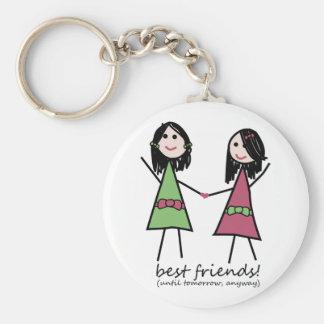 """Porte - clé de """"meilleurs amis"""" porte-clé rond"""