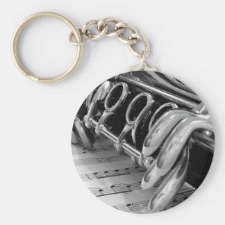 Porte - clé de musique de clarinette porte-clé rond