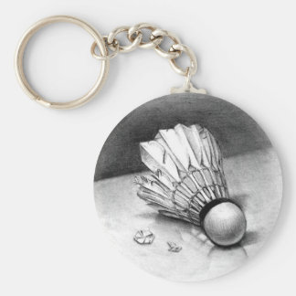 porte - clé de navette de badminton porte-clé rond