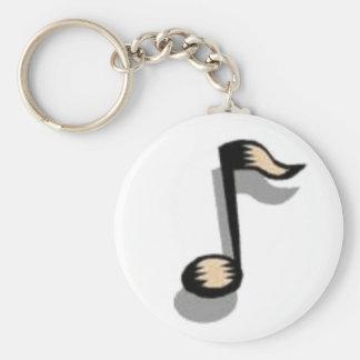 Porte - clé de note de musique porte-clés