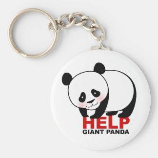 Porte - clé de panda géant d'aide porte-clé rond
