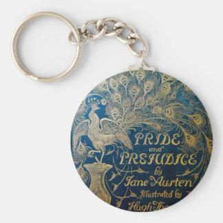 Porte - clé de paon de fierté et de préjudice porte-clé rond
