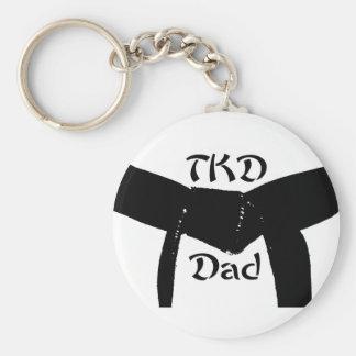 Porte - clé de papa de la ceinture noire TKD Porte-clé Rond