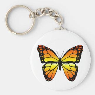 Porte - clé de papillon de monarque porte-clé rond