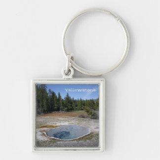 Porte - clé de parc national de Yellowstone Porte-clé Carré Argenté