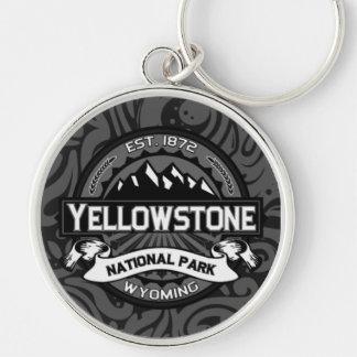Porte - clé de parc national de Yellowstone Porte-clé Rond Argenté
