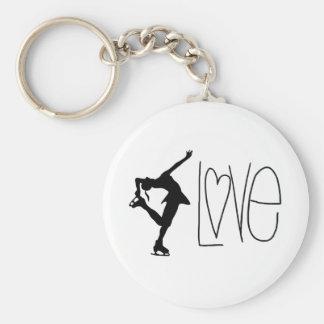 """Porte - clé """"de patinage artistique d'amour"""" porte-clé rond"""